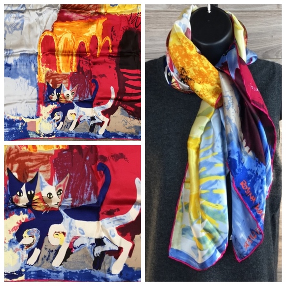 Art Silk Scarf Wrap Rosina Wachtmeister Walking Pretty